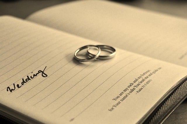 Capitulaciones de matrimonio y escritura