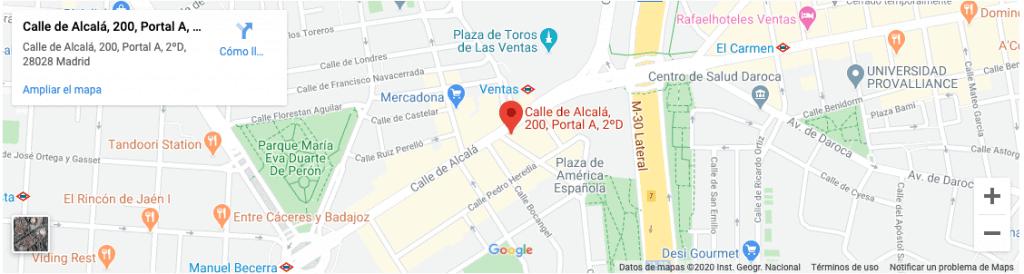 Dirección AVF Abogados  en Las Ventas Guindalera